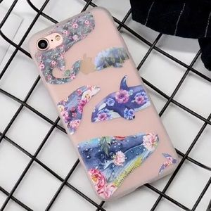 Accessories - LAST 1! NEW iPhone 7/8 Floral Whale Soft Case